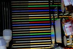 Kolor dowodzone lampy Obraz Stock
