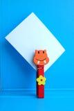 Kolor drewniana zwierzęca klamerka Obrazy Stock