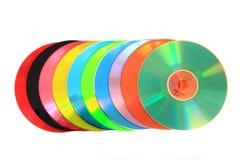 Kolor DVD i cd (dane) Zdjęcia Stock