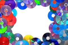 Kolor DVD i cd tło Zdjęcie Stock