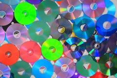 Kolor DVD i cd tło Fotografia Stock