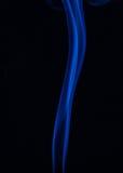 Kolor dym na czerni Zdjęcia Royalty Free
