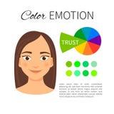Kolor emoci przewdonik ilustracji