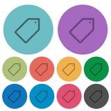 Kolor etykietki mieszkania ikony Zdjęcia Royalty Free