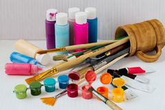 kolor farby sztuk pędzli Zdjęcie Stock
