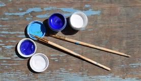 kolor farby sztuk pędzli Obrazy Stock