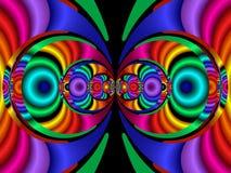 kolor fractal40a stereo ilustracja wektor