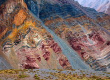 Kolor góry w Aconcagua parku narodowym andes Obrazy Royalty Free