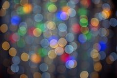 Kolor girlandy wianku tło, unfocused Zdjęcia Royalty Free