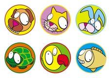 kolor ikon zwierząt domowych Fotografia Royalty Free