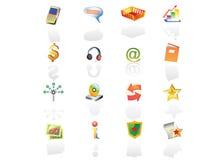 kolor ikony set2 sieci royalty ilustracja