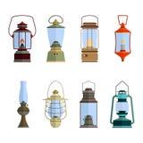 Kolor ikony ustawiać z lampionem royalty ilustracja