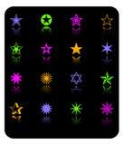 kolor ikony zestaw star wektora ilustracji