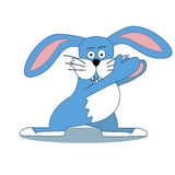 Kolor ilustracja śmieszny królik Fotografia Royalty Free