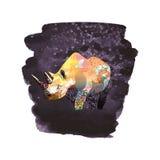 Kolor ilustracja nosorożec ilustracja wektor