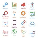 Kolor Internetowe Marketingowe ikony Vol 1 Fotografia Stock