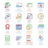 Kolor Internetowe Marketingowe ikony Vol 3 Zdjęcie Royalty Free