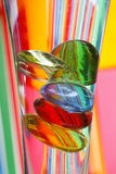 kolor kamienie wazowi szklanych Zdjęcia Stock