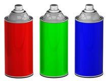 Kolor kiści puszki odizolowywać Zdjęcie Stock