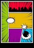 Kolor komiczek książkowej pokrywy vertical tło ilustracji