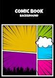 Kolor komiczek książkowej pokrywy vertical tło ilustracja wektor