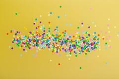 kolor konfetti obrazy stock
