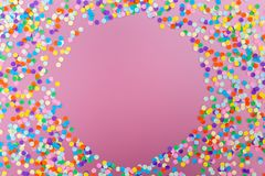 kolor konfetti fotografia stock