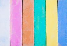 Kolor kreda na bielu fotografia stock