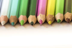 kolor kredki Zdjęcie Stock