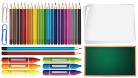 Kolor kredki i ilustracja wektor