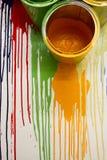 Kolor kropla na ścianie Obrazy Royalty Free