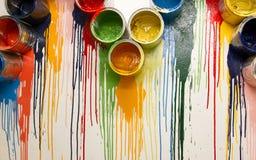 Kolor kropla na ścianie Fotografia Royalty Free
