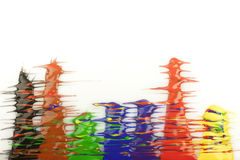 kolor krople Obrazy Royalty Free