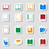 Kolor Książkowa ikona ustawiająca jako Labes Obrazy Stock