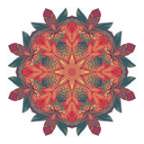 Kolor kurendy wzór Round kalejdoskop Obrazy Stock