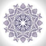 Kolor kurendy wzór Round kalejdoskop kwieciści elementy Zdjęcie Stock