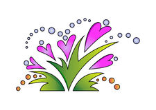 Kolor kwitnie d Fotografia Stock