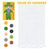 Kolor liczbą, czarownik royalty ilustracja