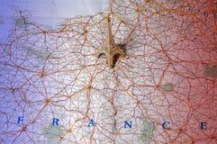kolor mapy krajowych France Fotografia Stock