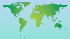 kolor mapy świata Obrazy Royalty Free