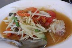Kolor melonowiec sałatka jest korzennymi, Azjatyckimi faworytami, fotografia stock