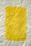 kolor miażdżący obramiający malujący papierowy kolor żółty Zdjęcie Royalty Free