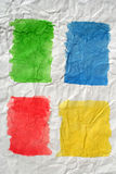 kolor miażdżył cztery malującego papier Obrazy Royalty Free