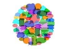 Kolor mowy bąbla grupa ilustracji