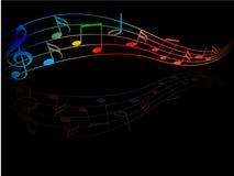 kolor muzyka Fotografia Stock