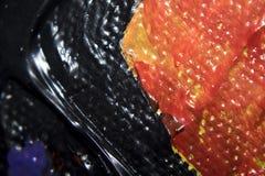 Kolor na brezentowego szczegółu makro- teksturze Obraz Royalty Free