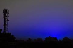 kolor nieba sylwetkowych natury zdjęcia stock