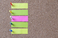Kolor notatka Zdjęcie Stock