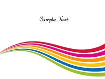 kolor odizolowywająca przedmiota tęczy fala Obraz Stock