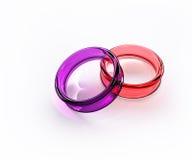 kolor okulary krystalicznego odizolowane pierścionek ilustracji